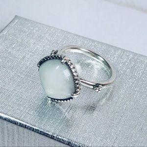 Pandora White Quartzite Pure Radiance Ring RETIRED